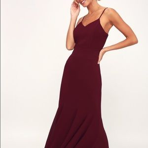 Lulus burgundy bridesmaid dress